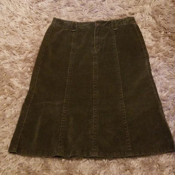Eddie Bauer Dresses & Skirts - EDDIE BAUER OLIVE GREEN SKIRT